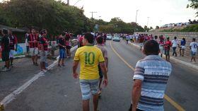 A caminho do Barradão